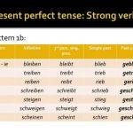 Le présent parfait: les verbes forts allemands