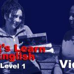 Apprenons l'anglais - Niveau 1