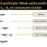 Le présent parfait: les verbes faibles allemands