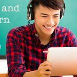 Bibliothèque de cours d'écoute d'anglais en ligne