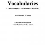 (PDF) Vocabulaires de base - Un livre de cours d'anglais général pour l'autoformation