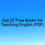 27 livres GRATUITS pour l'enseignement de l'anglais (PDF) - Téléchargement numériquePurlandTraining.comApprenez l'anglais gratuitement!